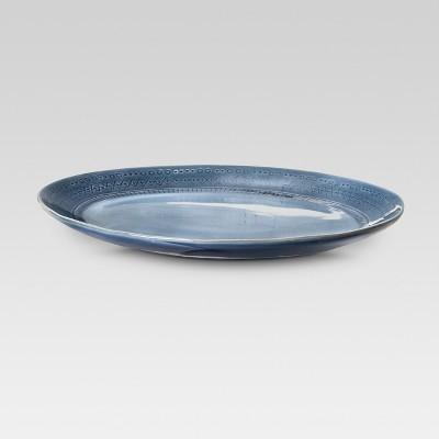 Kingsland 13.75  Oval Serving Platter Blue - Threshold™