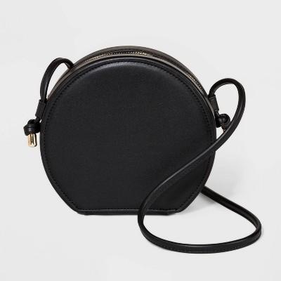 Round Crossbody Bag - A New Day™ Black