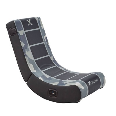 Camo Retreat 2.0 Bluetooth Foldable Rocking Video Gaming Chair with Speakers -Gray/Black - X Rocker