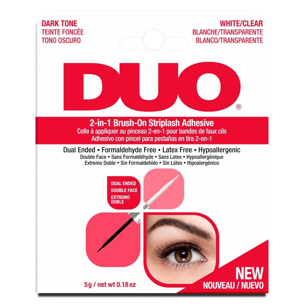 Image of Duo Adhesive 2in1 Lash Brush On Clear&Dark - 0.18oz