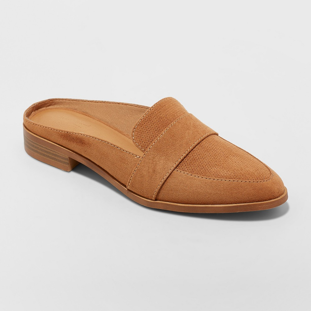Women's Amber Backless Loafer Mules - Universal Thread Rose Gold 11