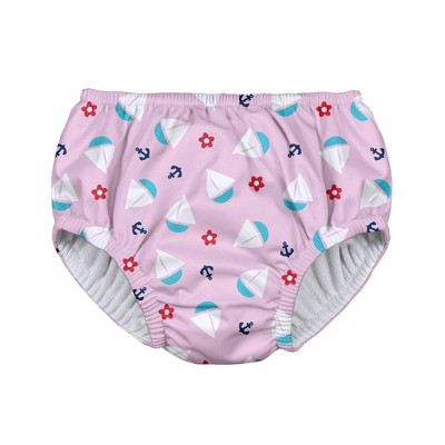i play Baby Girls' Sailboat Pull-up Reusable Swim Diaper - Light Pink M