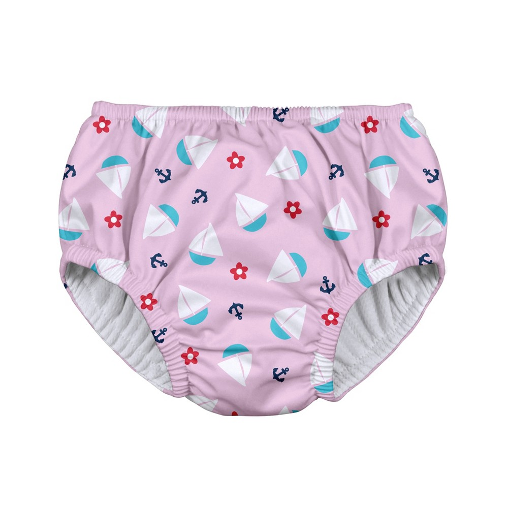 i play Baby Girls' Sailboat Pull-up Reusable Swim Diaper - Light Pink M