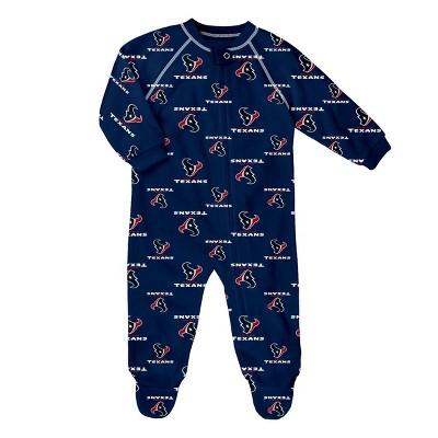 NFL Houston Texans Baby Boys' Blanket Sleeper - 12M