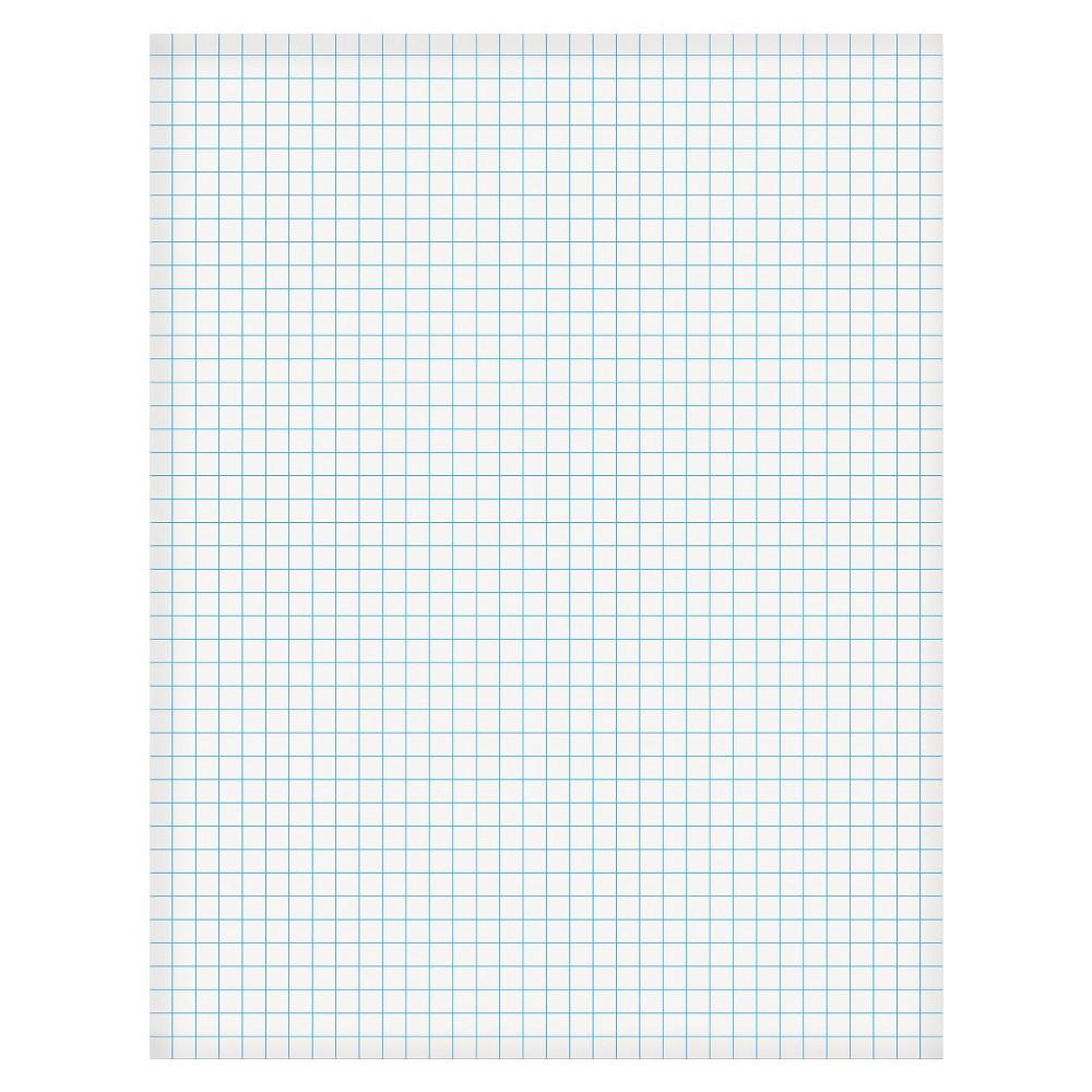 Ampad 2-Sided Quadrille Pads-50 Sheet(s) - 20lb - Quad Ruled - Letter 8 1/2