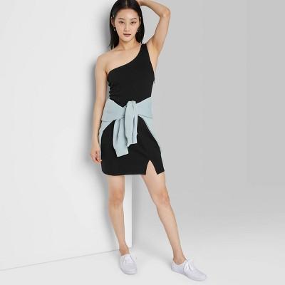 Women's One Shoulder Bodycon Dress - Wild Fable™