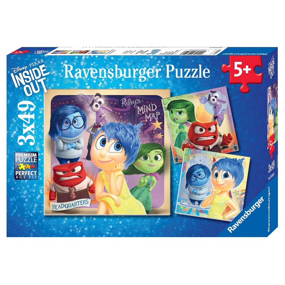 Ravensburger Disney InsideOut Emotional Adventure Puzzles in a Box - 3 x 49pc