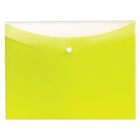 Globe-Weis® Poly Snap Envelope, Letter, Limeade - image 1 of 1