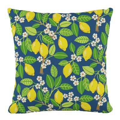 Outdoor Throw Pillow Lemon Tree Indigo  Furniture Mfg - Skyline Furniture