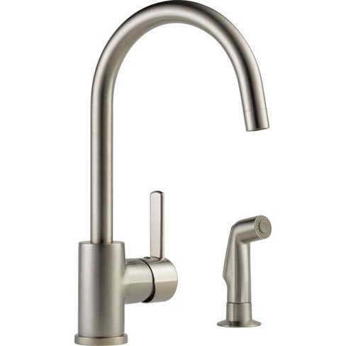 Peerless P199152LF Pull-Down Kitchen Faucet with Two-Function Spray Modes  and 360 Degree Spout Swivel - Stainless