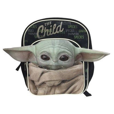 Kids' Disney Baby Yoda Mini Backpack - Black