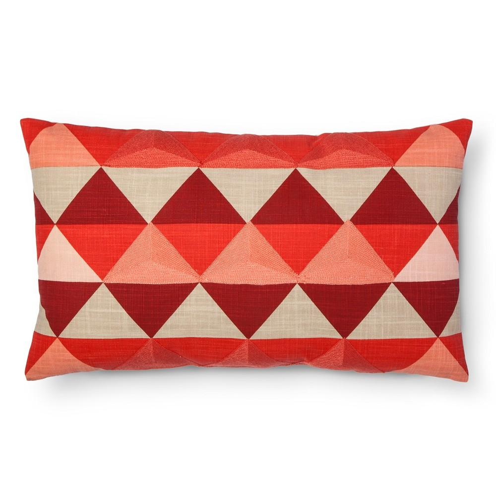 Orange Diamond Square Pillow - Room Essentials