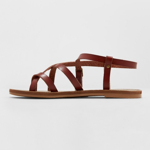 9b80a2ed386 Women s Lavinia Toe Wrap Wide Width Thong Sandal - Universal Thread™ Brown  8W   Target