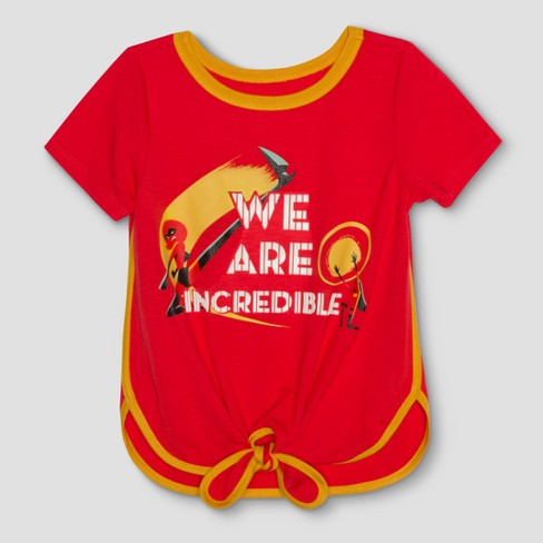 Toddler Girls' The Incredibles 2 We Are Short Sleeve T-Shirt - Tangerine - image 1 of 2