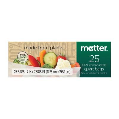 Matter 100% Compostable Quart Bags - 25ct