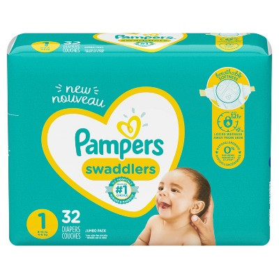 Pampers Swaddlers Diapers - Size 1 - 32ct