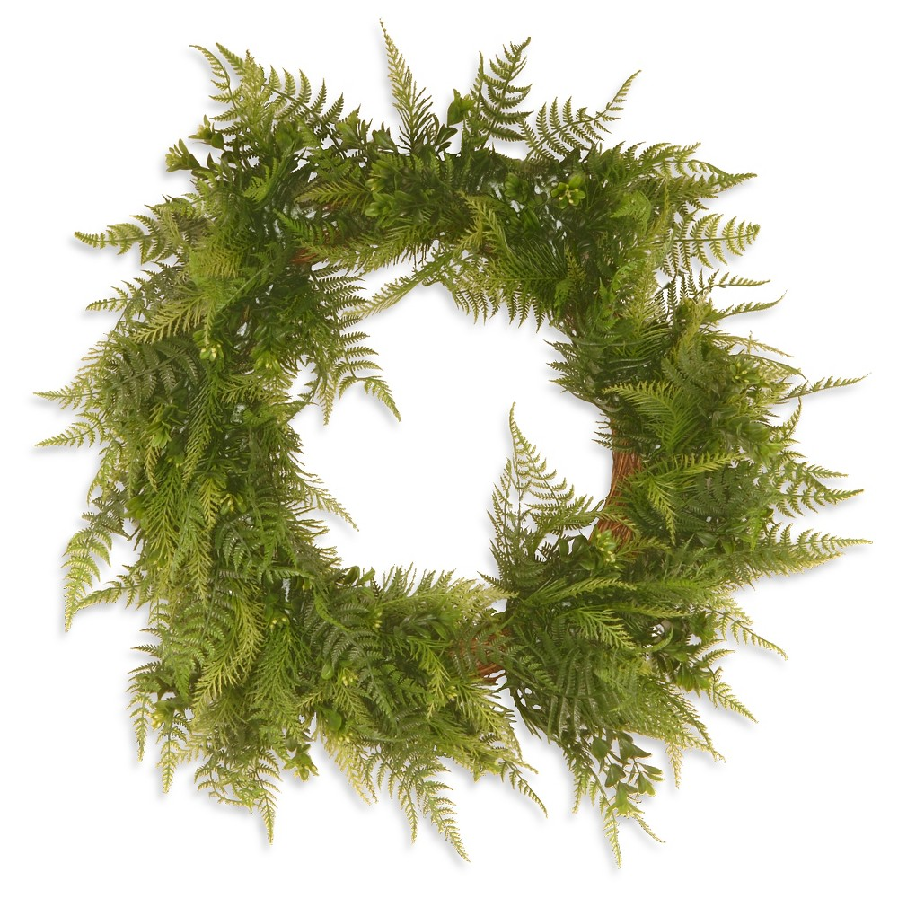 Boston Fern Wreath - Green (22)