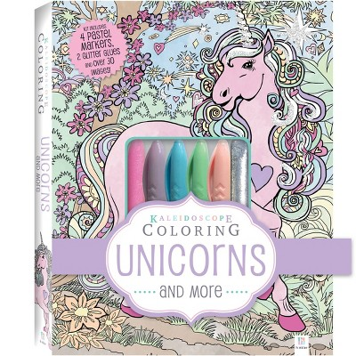 Kaleidoscope Coloring Kit: Unicorns and More - Hinkler Books
