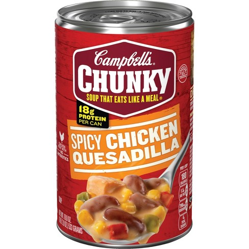 Campbells Chunky Spicy Chicken Quesadilla Soup 188 Oz Target