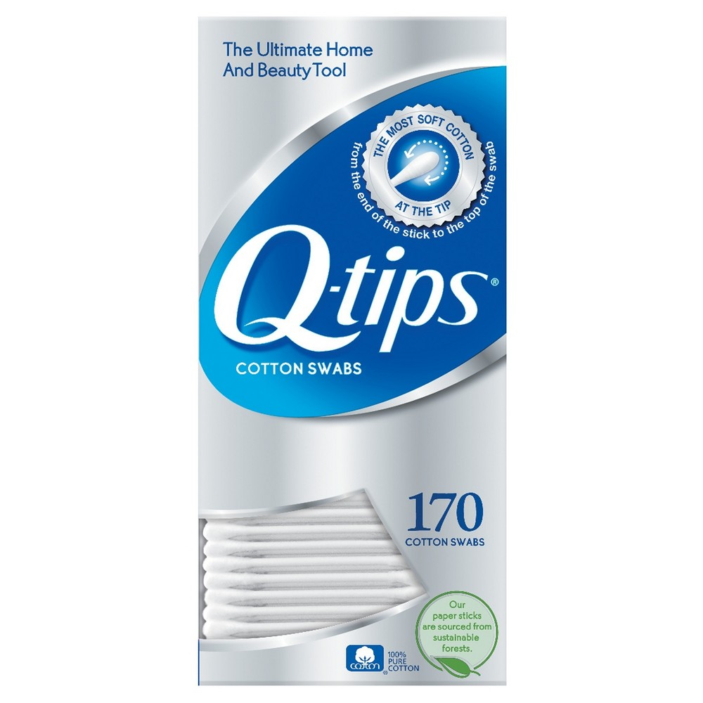 Image of Q-tips Cotton Swabs - 170ct