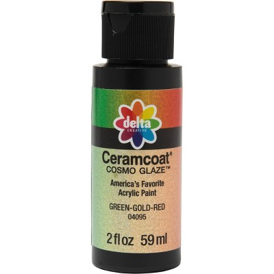 Delta Ceramcoat Cosmo Glaze Acrylic Paint (2oz) - Green-Gold-Red