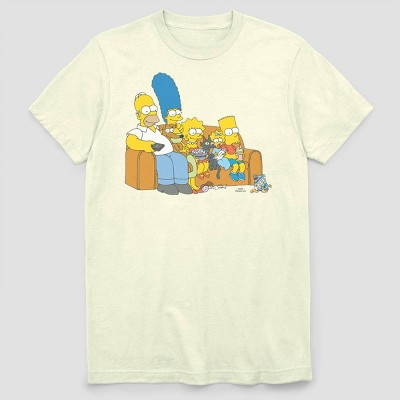 Men's FOX Simpsons Family Couch Short Sleeve Graphic Crewneck T-Shirt - White