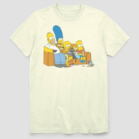 Men's FOX Simpsons Family Couch Short Sleeve Graphic Crewneck T-Shirt - White - image 1 of 2