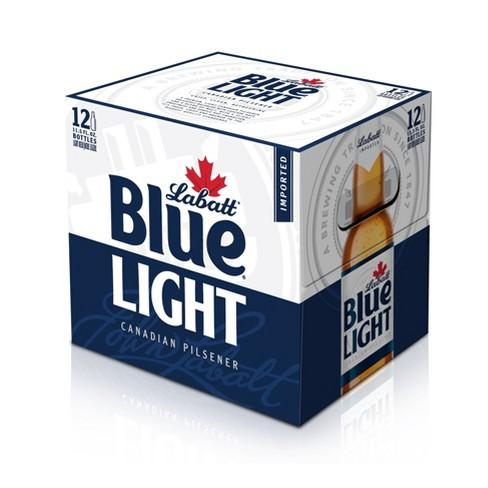 Labatt Blue Light Canadian Pilsner Beer - 12pk/12 fl oz Bottles - image 1 of 2