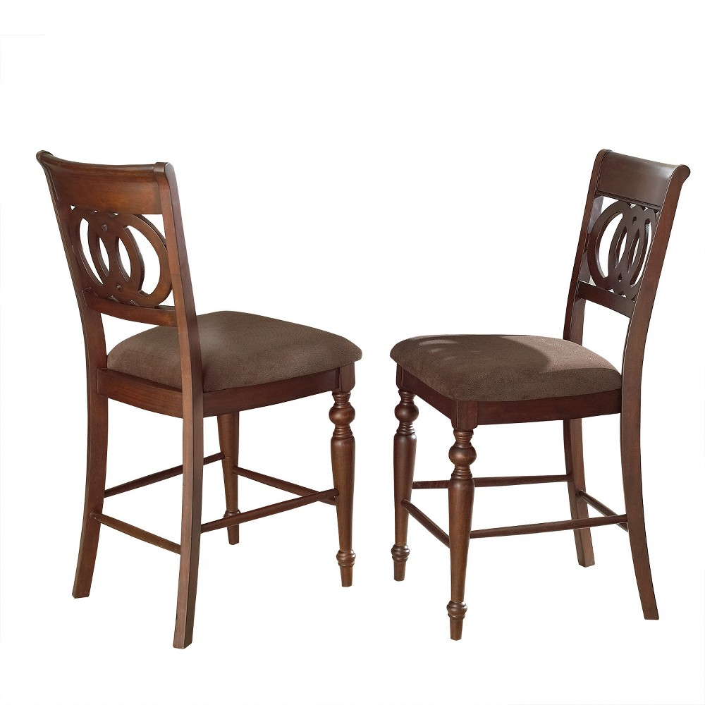 Darby Counter Chairs Brown (Set of 2) - Steve Silver