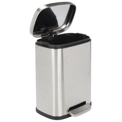 mDesign Step Trash Can, Garbage Bin with Removable Liner Bucket