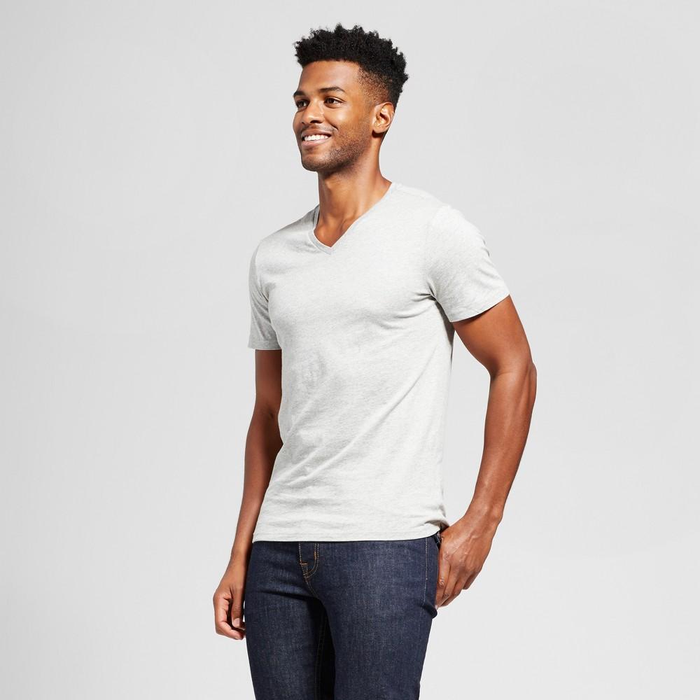 Men's Slim Fit Solid V-Neck T-Shirt - Goodfellow & Co Gray XL