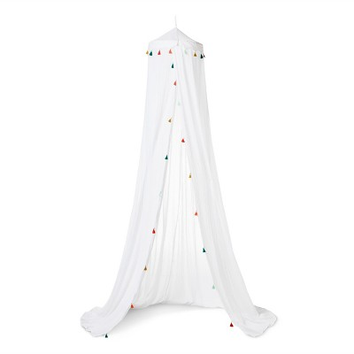 Tassel Bed Canopy One Size White - Pillowfort™