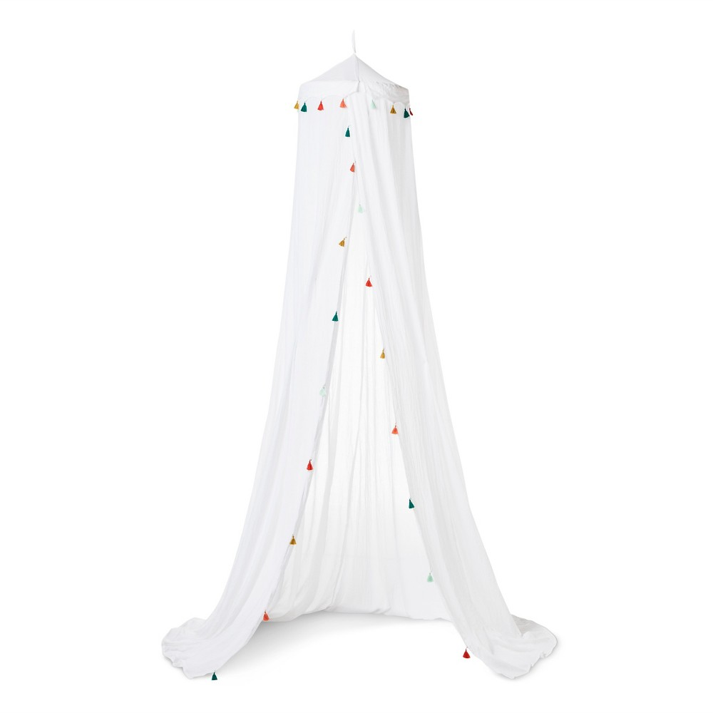 Tassel Bed Canopy One Size White - Pillowfort