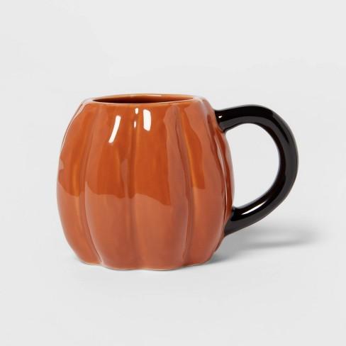 10.6oz Stoneware Pumpkin Mug Orange - Threshold™ - image 1 of 3