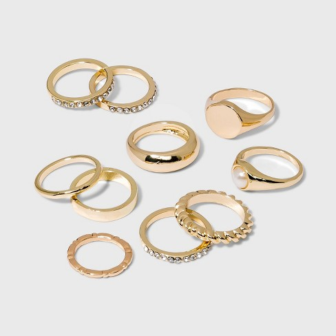 Signent Ring Set 10pc - Wild Fable™ Gold - image 1 of 1