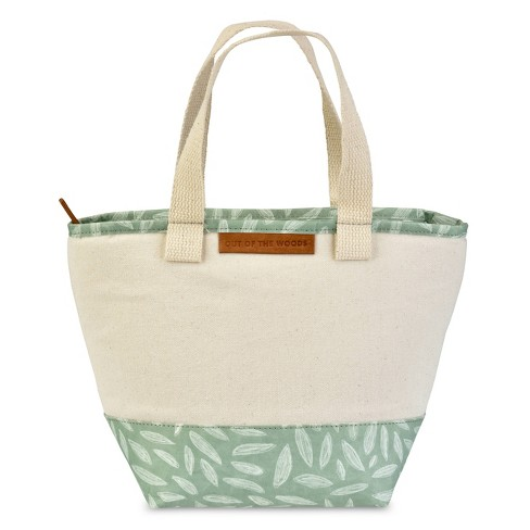 Out of the Woods Mini Shopper Lunch Tote - White/Leaf Print - image 1 of 4