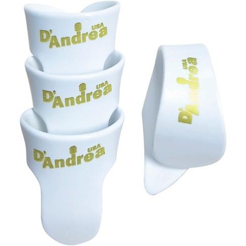 D'Andrea White T&F Pack - 1 Thumb & 3 Finger Picks Large - image 1 of 1
