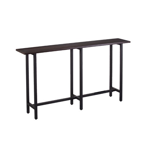 Harley Long Narrow Console Table Espresso Brown Aiden Lane
