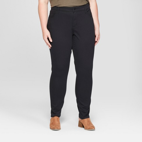 ebf55509240 Women s Plus Size Mid-Rise Curvy Skinny Jeans - Universal Thread™ Black