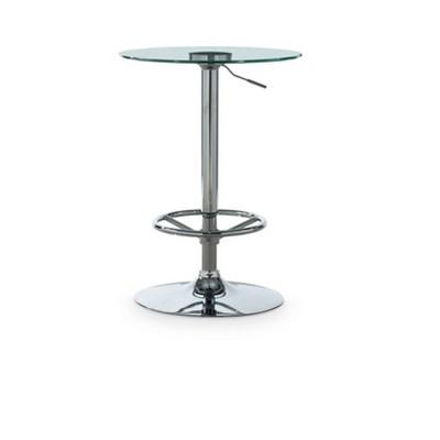 Keelan Adjustable Bar Height Pub Table Chrome - Powell Company