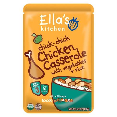 Ellas Kitchen Organic Pureed Baby Food Pouch Stage 3 Chicken