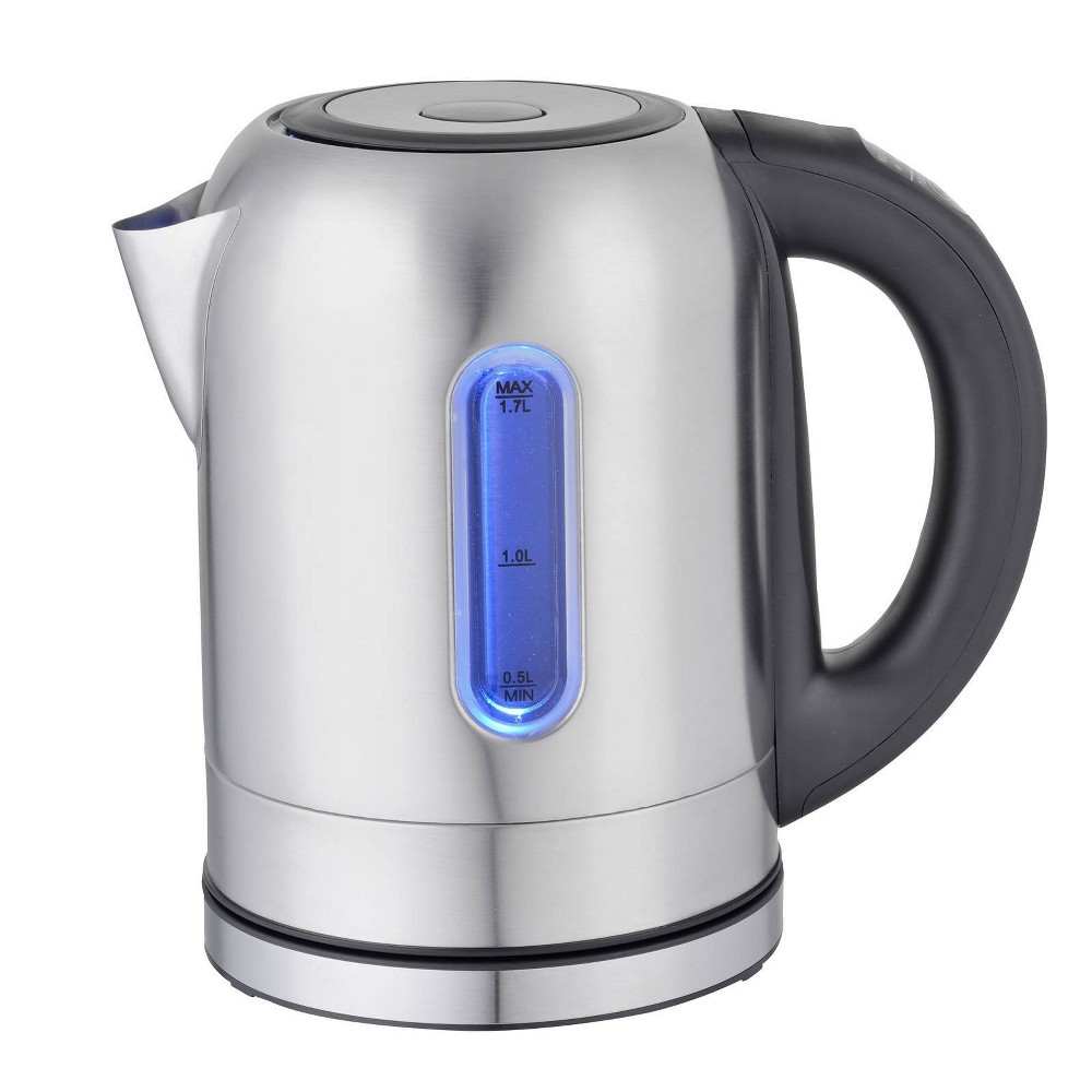 Image of MegaChef 1.7L Electric Tea Kettle with 5 Temperature Presets - Silver