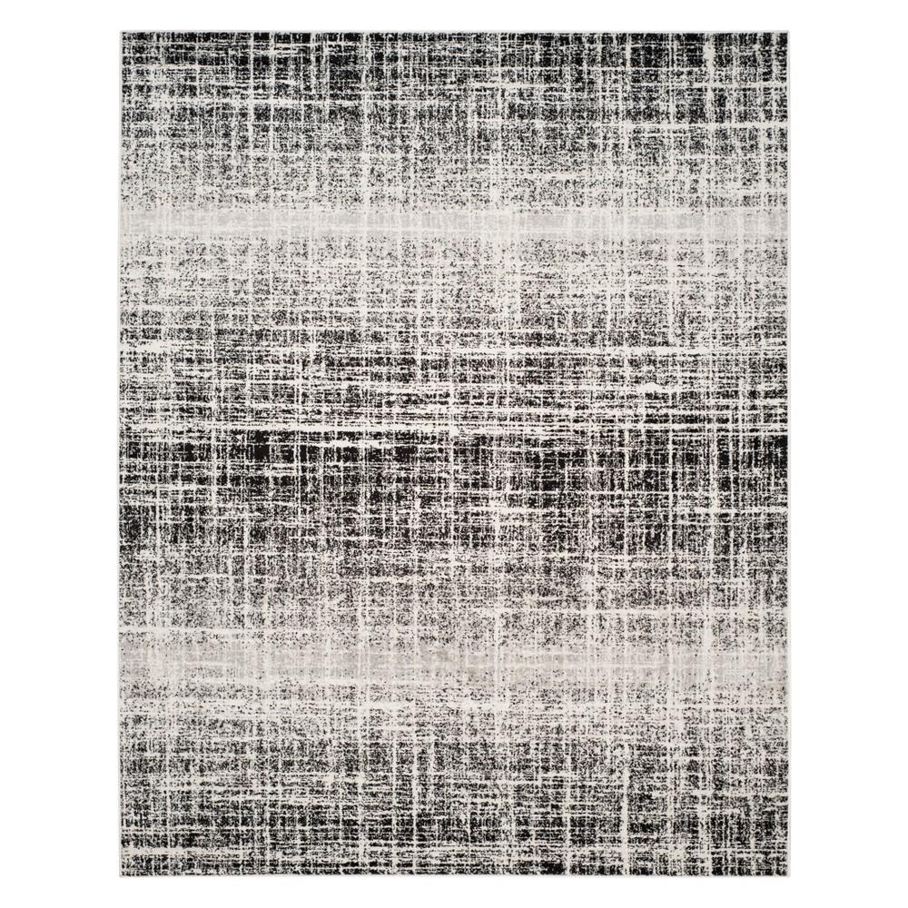 9'X12' Spacedye Design Area Rug Ivory/Black - Safavieh