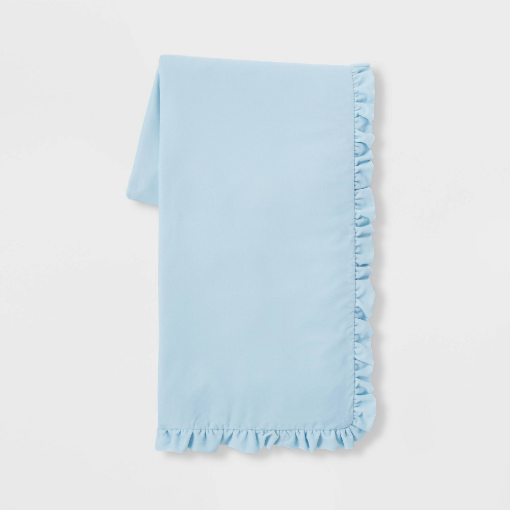 """Image of """"50"""""""" x 86"""""""" Velvet Throw Blanket Blue - Simply Shabby Chic"""""""