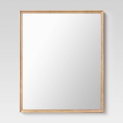 "28"" x 34"" Classic Wood Rectangle Mirror Natural - Threshold™"