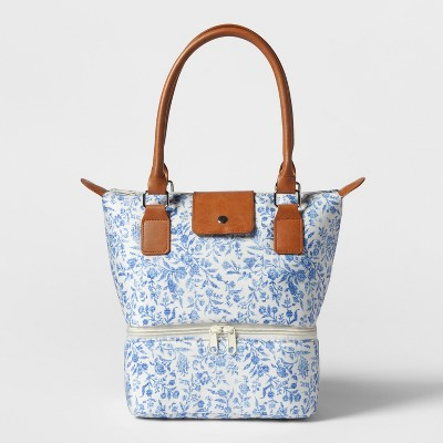 Dual Lunch Tote Blue Charlotte Print - Threshold™