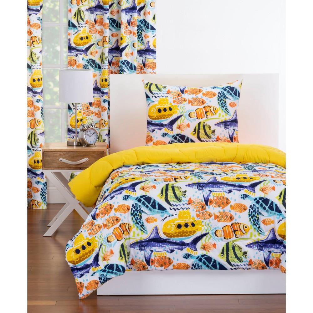 Twin Submarine Reversible Comforter With Sham Set - Crayola, Multicolored