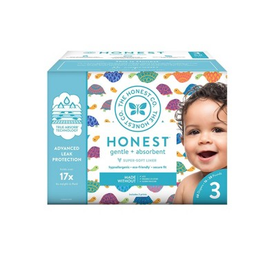 The Honest Company Happy Together Club Box Disposable Diapers - Size 3 (68ct)