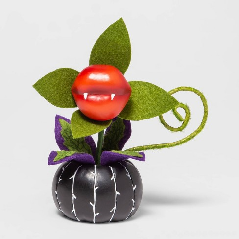 Ghoulish Garden Kiss of Death Faux Halloween Creepy Plant Succulent Black - Hyde & EEK! Boutique™ - image 1 of 3