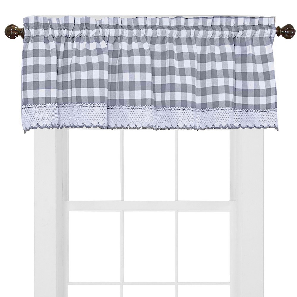 Buffalo Check Valance Gray (58